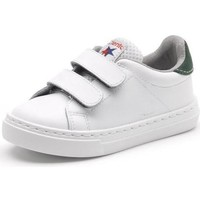Shoes Girl Low top trainers Cienta Chaussures fille  Deportivo Scractch Piel blanc/vert
