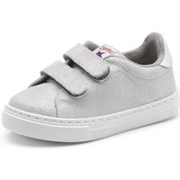 Shoes Girl Low top trainers Cienta Chaussures fille  Deportivo Scractch Glitter gris clair