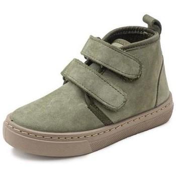 Shoes Girl Hi top trainers Cienta Bottines fille  Doble Velcro On Napa vert kaki