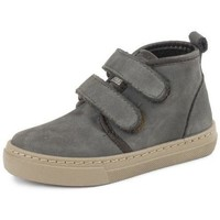 Shoes Girl Hi top trainers Cienta Bottines fille  Doble Velcro On Napa gris anthracite