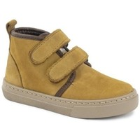 Shoes Girl Mid boots Cienta Bottines fille  Doble Velcro On Napa jaune orangé