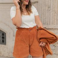 Clothing Women Shorts / Bermudas Céleste CHENE Rust