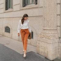 Clothing Women 5-pocket trousers Céleste MARRONNIER Camel
