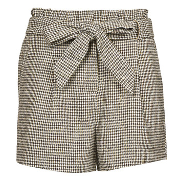 Clothing Women Shorts / Bermudas Betty London PIUBELLA Black / Ecru