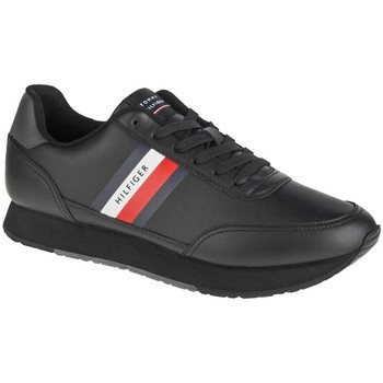 Shoes Men Low top trainers Tommy Hilfiger Essential Runner Winter Leather Black
