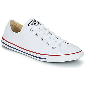 Shoes Women Low top trainers Converse ALL STAR DAINTY CANVAS OX White / Red