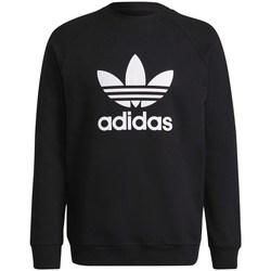 Clothing Men Sweaters adidas Originals Adicolor Classics Trefoil Crewneck Sweatshirt Black