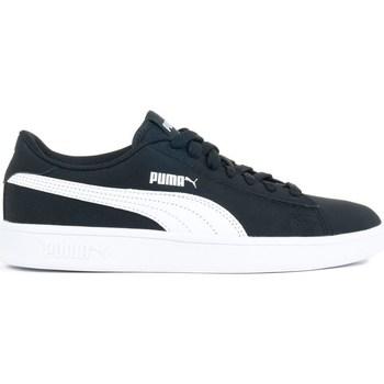 Shoes Children Low top trainers Puma Smash V2 Buck JR Navy blue