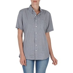 Clothing Women short-sleeved shirts American Apparel RSACP401S White / Blue