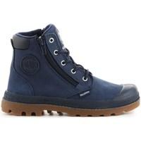 Shoes Children Hi top trainers Palladium Pampa HI Cuff WP Navy blue