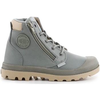 Shoes Children Hi top trainers Palladium Pampa HI Cuff WP Grey