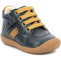 Shoes Girl Mid boots Aster Chaussures fille  Piasap bleu marine/orange clair