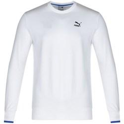 Clothing Men Sweaters Puma Sport Crew Sweat White