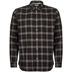 Clothing Men Long-sleeved shirts Norse Projects Anton Brushed Flannel Shirt - Charcoal Check