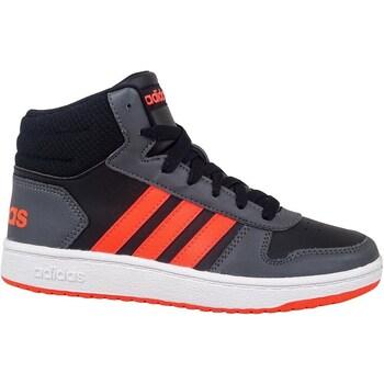 Shoes Children Hi top trainers adidas Originals Hoops Mid 20 K Black