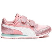 Shoes Children Low top trainers Puma Cabana Racer Glitz V Inf Pink