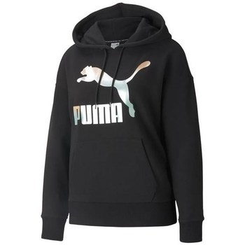 Clothing Women Sweaters Puma Classics Logo Hoodie Black