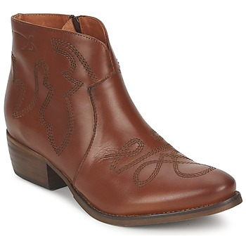 Shoes Women Mid boots Pastelle JANE Camel
