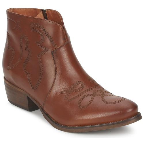 Shoes Women Mid boots Pastelle JANE Camel