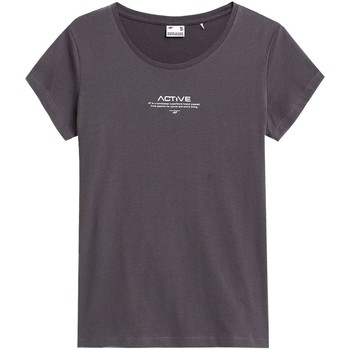 Clothing Women Short-sleeved t-shirts 4F TSD020 Graphite