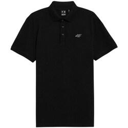 Clothing Men Short-sleeved polo shirts 4F TSM356 Black
