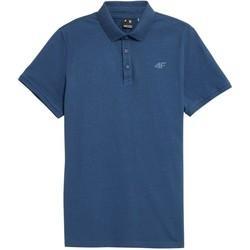 Clothing Men Short-sleeved polo shirts 4F TSM355 Blue