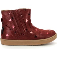 Shoes Girl Mid boots Aster Chaussures fille  Welsea bordeaux