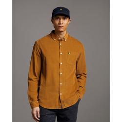 Clothing Men Long-sleeved shirts Lyle & Scott Chemise  Needle Cord marron