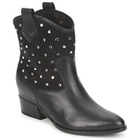 Shoes Women Mid boots Alberto Gozzi GIANNA Velour-Nero