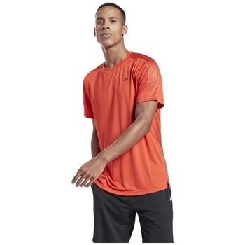 Clothing Men Short-sleeved t-shirts Reebok Sport Workout Ready Tech Orange