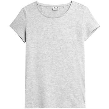 Clothing Women Short-sleeved t-shirts 4F TSD350 Grey