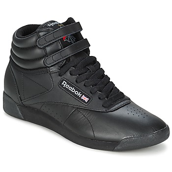 Shoes Hi top trainers Reebok Classic FREESTYLE  BLACK