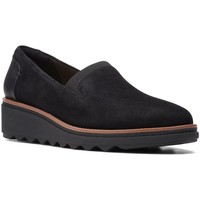Shoes Women Loafers Clarks Sharon Dolly Wide Fit Casual Slip On Shoes black