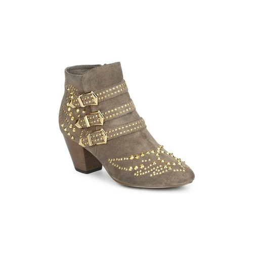 Shoes Women Ankle boots Ash JOYCE Beige