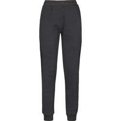 Clothing Women Tracksuit bottoms Kappa Pantalon femme  savonata noir/gris foncé
