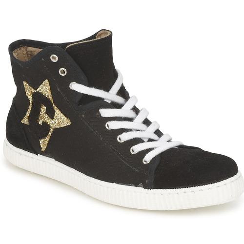 Shoes Women Hi top trainers Chipie JAVENE DOUDOU Black