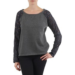 Clothing Women sweaters Stella Forest SWEAT MANCHE DENTELLE LACE Grey