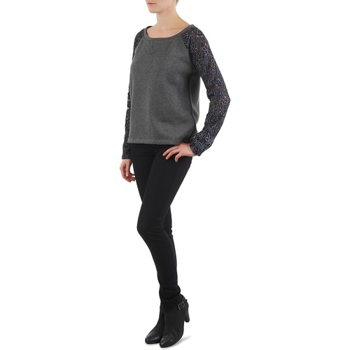 Lace Sweat Forest Stella Dentelle Grey Manche IBxZq
