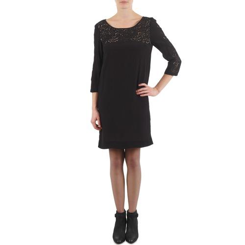 Clothing Women Short Dresses Stella Forest ROBE AVEC DENTELLE SIAM Black