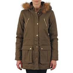 Clothing Women Parkas School Rag PARKLEY Kaki