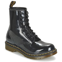 Shoes Women Mid boots Dr Martens 1460 8 EYE BOOT Black Patent