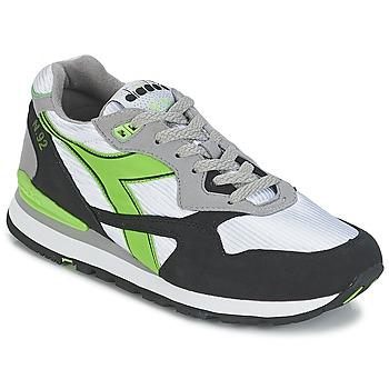 Shoes Low top trainers Diadora N-92 White / Black / Green