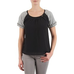 Clothing Women Short-sleeved t-shirts Lollipops PADELINE TOP Black / Grey