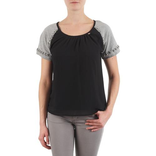 Clothing Women short-sleeved t-shirts Lollipops PADELINE TOP Black / Grey