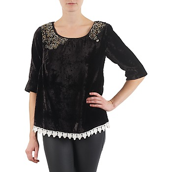 Clothing Women Long sleeved tee-shirts Lollipops PILOW TOP Black
