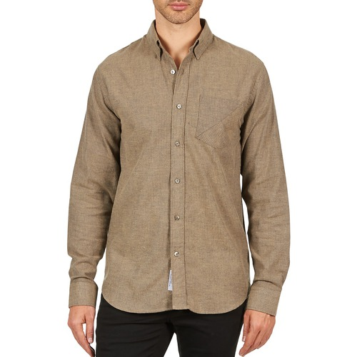 Clothing Men long-sleeved shirts Kulte CHEMISE CLAY 101799 BEIGE Beige