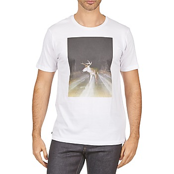 Clothing Men short-sleeved t-shirts Kulte BALTHAZAR PLEIN PHARE 101931 BLANC White