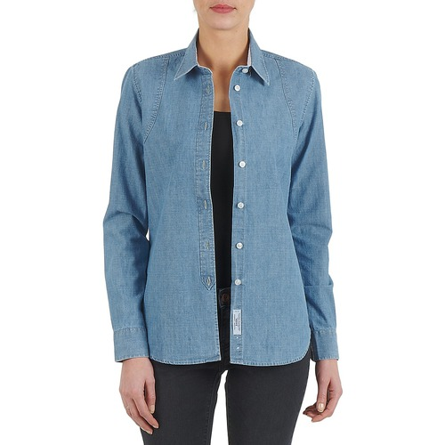 Clothing Women Shirts Kulte CHEMISE CIRCUIT 101826 BLEACH Blue
