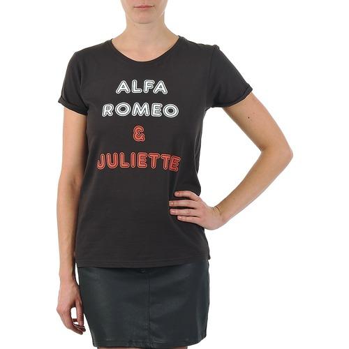 Clothing Women short-sleeved t-shirts Kulte LOUISA ROMEO 101950 NOIR Black