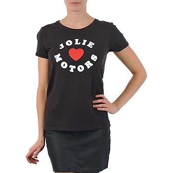 Clothing Women Short-sleeved t-shirts Kulte LOUISA JOLIEMOTOR 101954 NOIR Black